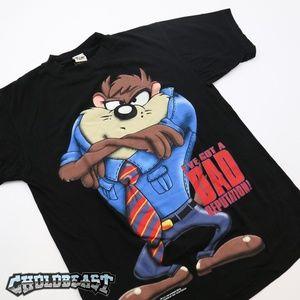 VTG 90s Looney Tunes Tasmanian Devil Space Jam T s
